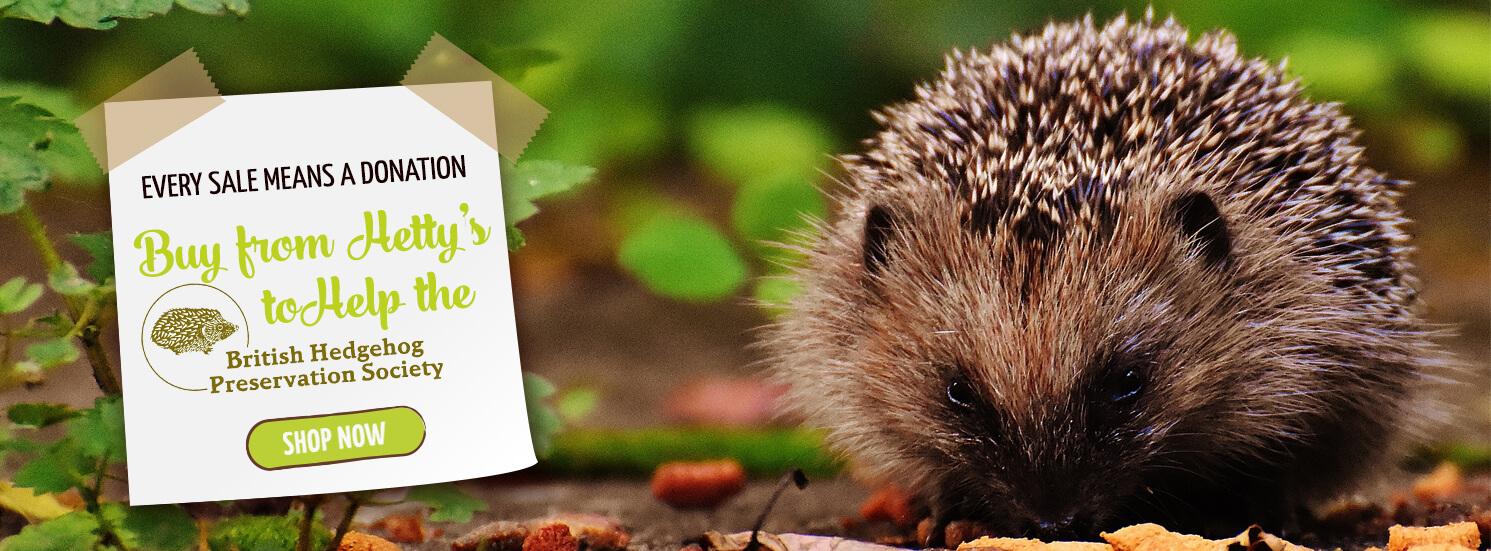 Hetty's Herbs Buy from Hetty's to help hedgehogs