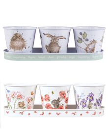 Wrendale Herb Pots & Tray