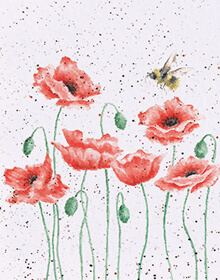 Wrendale Poppies and Bee Card